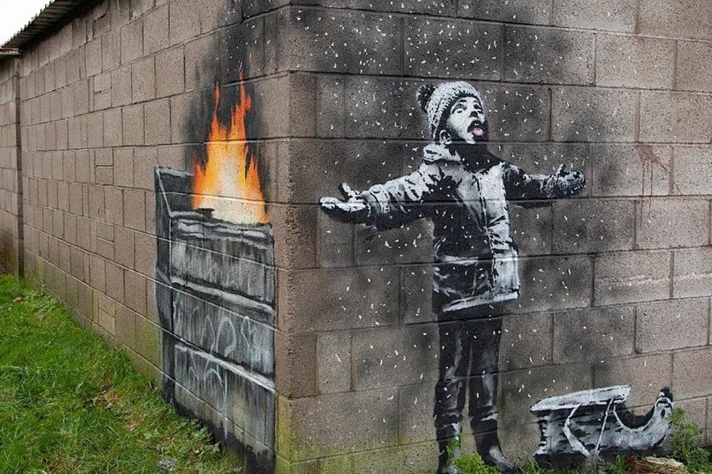 Ritrovate in Italia le opere  rubate di Banksy